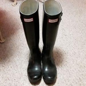 Hunter rain boots original pre-owned 7 1/2